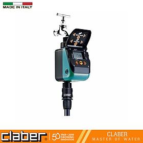 Van Hẹn Giờ Tưới Cây Tự Động Claber Aquauno Video 2 Plus - 8412 Made In Italy, tưới cây 2 lần trong ngày, ngõ vào ren 27mm, có cổng kết nối cảm biến mưa