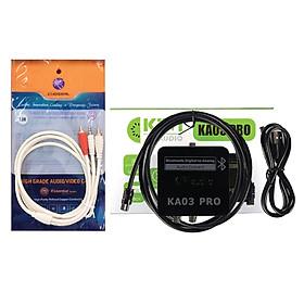 Combo Bộ chuyển quang âm thanh KIWI KA03 Pro hỗ trợ Bluetooth và Dây AV Choseal 1 ra 2  ( hoa sen) dài 1.8m - Hàng Chính Hãng