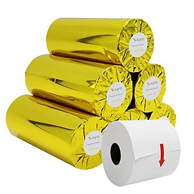 Giấy in nhiệt Giấy in bill VAYO Khổ 80 x 80 mm - định lượng 65gsm - In rõ nét  - Lõi siêu nhỏ - Hàng chính hãng, bán chạy số #1 tại Thái Lan (Thùng 10 cuộn)
