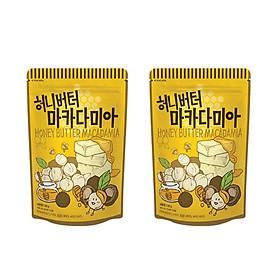 Combo 2 gói Hạt Macadamia tẩm bơ mật ong Hàn Quốc Tomsfarm HoneyButter Macadamia Almond 130g x 2ea