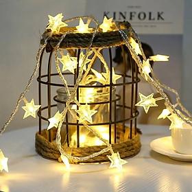 Đèn LED Hình Ngôi Sao Trang Trí Giáng Sinh, Noel, Lễ Tết