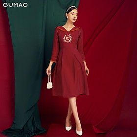 Đầm ôm nữ mới thêu chữ G thời trang nữ GUMAC DB118