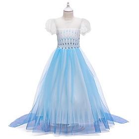 Đầm hóa trang công chúa Elsa - hàng thiết kế cao cấp, mẫu mới nhất giành cho bé gái
