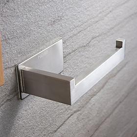 Móc Inox treo cuộn giấy vệ sinh dán tường gạch men - có sẵn keo siêu dính và không rỉ sét - HOBBY MTG12
