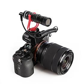 XTUGA H-CM01 camera microphone kim loại video mic 3.5 mm cắm cho điện thoại thông minh Canon Nikon Sony DSLR máy quay phim người tiêu dùng.