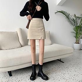 Chân váy Khaki nhung Ulzzang Quảng Châu VJN16