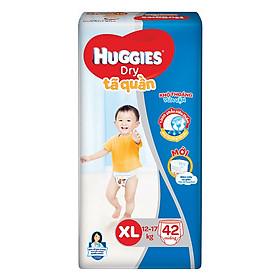 Tã Quần Huggies Dry Gói Đại XL42 (42 Miếng) - Bao Bì Mới