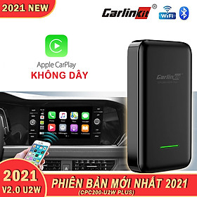Carlinkit 2.0 CPC200-U2W Plus (MỚI NHẤT)-Bộ Adapter chuyển đổi Apple Carplay có dây sang Apple Carplay không dây cho xe hơi màn nguyên bản.