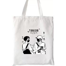 Túi tote vải xách tay đi học Tiêu Chiến Vương Nhất Bác MA ĐẠO TỔ SƯ TRẦN TÌNH LỆNH túi ulzzang bác quân nhất tiêu