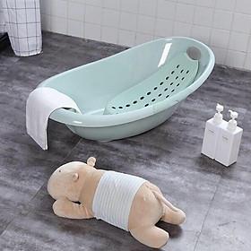 Chậu tắm Elip kèm võng tắm chống trượt cho bé (Giao màu ngẫu nhiên)