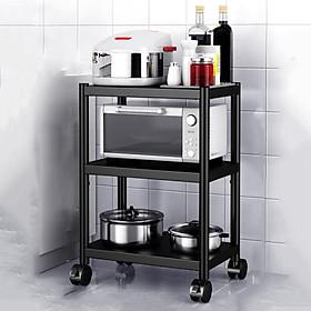 Kệ để lò vi sóng đa năng Inox 304 cao cấp, kệ để đồ lò nướng chắc chắn, sơn tĩnh điện chống bong tróc, kệ nhà bếp siêu chịu lực 300kg