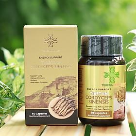 Chiết xuất Đông Trùng Hạ Thảo Tây Tạng, Sản xuất tại Mỹ - Teresa Herbs Tibetan Cordyceps Sinensis 60 Capsules Nutritional Supplement (60 viên 500mg)