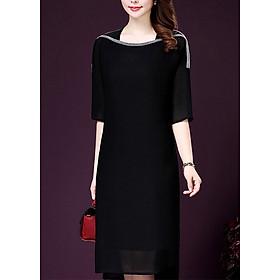 Đầm suông trung niên dự tiêc sang trọng ROMI 365