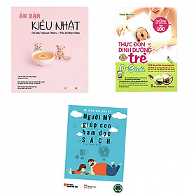 Combo ăn dặm kiểu  Nhật +thực đơn ăn dặm cho trẻ 0-3 tuổi(tặng kèm sách người Mỹ giúp con ham đọc sách)