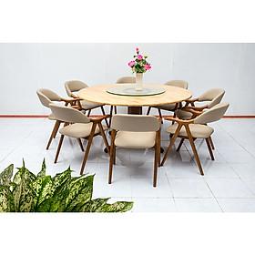Bộ bàn ăn gỗ cao su Nội Thất Nhà Bên Nan 28 (Nâu)