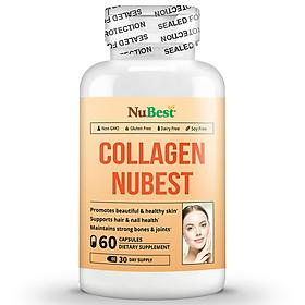 Thực Phẩm Bảo Vệ Sức Khoẻ Hỗ Trợ Chống Lão Hoá, Làm Đẹp Da Của Mỹ Collagen NuBest - Hộp 60 Viên