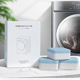 Viên Tẩy Lồng Máy Giặt Tự Hòa Tan Nhật Bản - Diệt Sạch Vi Khuẩn Lên Đến 99%, Vệ Sinh, Bảo Vệ Máy Giặt Và Khử Mùi Hiệu Quả Với Công Nghệ Tự Hòa Tan Thế Hệ Mới (Hộp 8 Viên) - Tặng Móc Khóc SPEVI