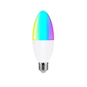 Bóng Đèn LED Dạng Nến RGB+W Thông Minh Điều Khiển Từ Xa Bằng Wifi Điện Thoại Với Hệ Thống Tương Thích V16-S E27 (6W)