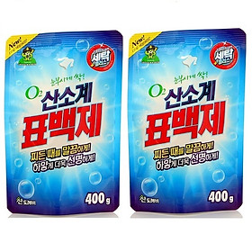 Bộ 2 Gói bột giặt phụ trợ tẩy vết bẩn khử khuẩn quần áo Hàn Quốc 400g
