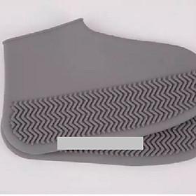 Ủng bọc giày đi mưa chống trượt PK519 - Xám - M (35-40)