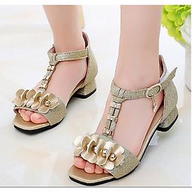 Sandal Cao Gót Bé Gái Thời Trang từ 3 đến 13 tuổi - D51