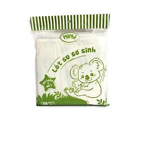 Tấm lót sơ sinh cao cấp Mipbi cho bé (30 tờ/Gói, kích thước 22x22cm)