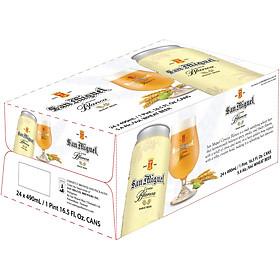 Thùng 24 lon Bia San Miguel Cerveza Blanca Lon 490 ml