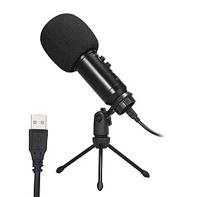 USB Microphone Plug & Play Computer Recording Mic Echo Adjustment for Laptop PC Online Meeting Chatting Studio Recording