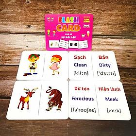 Flash card Theo phương pháp giáo dục sớm của Glenn Doman Chủ đề Sự Đối Lập  – Thẻ học thông minh (song ngữ Anh Việt)