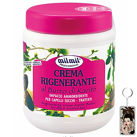 Kem phục hồi tóc tinh chất bơ Milmil Cream Karite Butter 1000ml tặng kèm móc khóa
