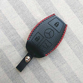 Bao da chìa khóa Smartkey xe hơi Mercedes (Đen)