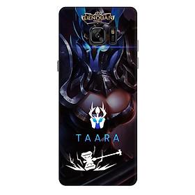 Ốp lưng nhựa cứng nhám dành cho Samsung Galaxy Note FE in hình Taara