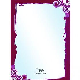 Gương sơn màu hoa văn Hoàng Thiện HT 8805