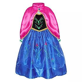 Đầm Công Chúa Anna Kèm Áo Choàng Cho Bé Gái Mùa Đông - HMQ88