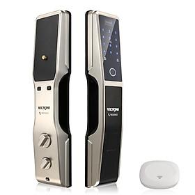 Khóa cửa điện tử VICKINI 39810.002 MSN. Mở bằng vân tay, mật mã, thẻ từ, chìa cơ, app. Hàng chính hãng