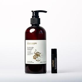 Combo gel tắm bí đao 300ml + Son dưỡng môi dầu dừa bến tre the cocoon 5g