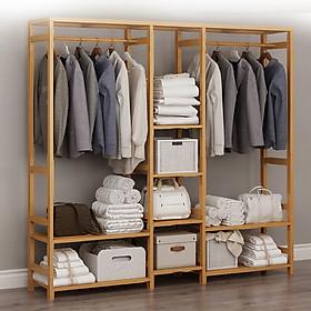 Tủ quần áo khung gỗ tre