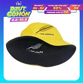 Nón bucket tai bèo thêu hình chiếc lá We Will Fly, may 2 lớp với 2 màu khác nhau độc đáo, vải cotton mềm mại thoải mái