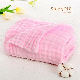 Khăn xô tắm cho bé 6 lớp 110x110cm 100% cotton đa năng siêu mềm & siêu thấm 5 màu
