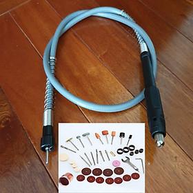 dây nối dài máy khoan chuyển thành máy mài khắc mini và bộ phụ kiện cắt mài đánh nhám làm sạch 41 chi tiết