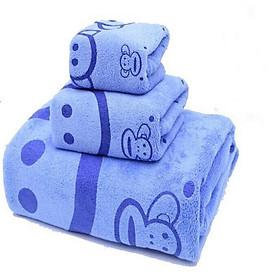 Combo 03 Khăn tắm, Khăn mặt, Khăn tay