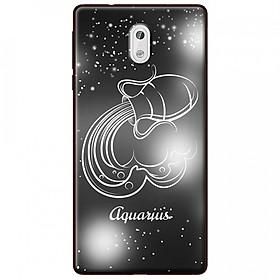 Ốp lưng  dành cho Nokia 2 mẫu Cung hoàng đạo Aquarius (đen)