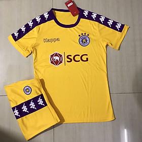 Bộ quần áo đá bóng mẫu đội tuyển HÀ NỘI FC màu Vàng mùa giải 2019