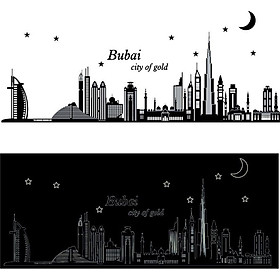Decal dán tường Dubai city of gold BO6916