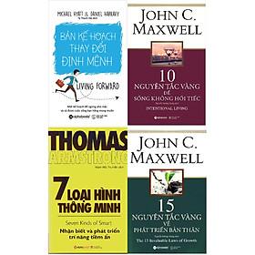 Combo Kế Hoạch Hoàn Thiện Bản Thân ( Bản Kế Hoạch Thay Đổi Định Mệnh + 10 Nguyên Tắc Vàng Để Sống Không Hối Tiếc + 7 Loại Hình Thông Minh + 15 Nguyên Tắc Vàng Về Phát Triển Bản Thân ) Tặng Kèm Bookmark Tuyệt Đẹp