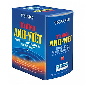 Từ điển Oxford Anh Việt_bìa cứng xanh( tặng tự hoc 2000 từ vựng tiếng anh theo chủ đề)