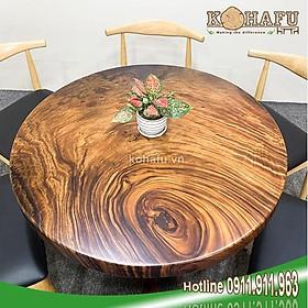 Bàn tròn cafe/Bàn ăn gỗ me tây/ Bàn tròn ngồi 6 ghế KR20060