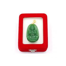 Mặt Phật Như lai Đại nhật xanh 5cm kèm hộp nhung