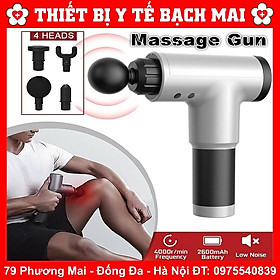 Máy Massage Cầm Tay Đánh Tan Mỡ Bụng Toàn Thân Massage Chân Cổ Mát Xa 6 Chế Độ Săn Chắc Cơ Fascia Gun