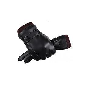 Găng tay da nam cảm ứng chống nước DCL01